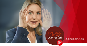 EPPA, QKE and Gütegemeinschaft are actively involved in the online platform FENSTERBAU FRONTALE connected. Photo: Fensterbau Frontale / NürnbergMesse